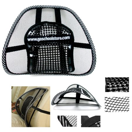 Mesh Lumbar Back Brace Support Office Home Car Seat Chair Cushion Cool Black