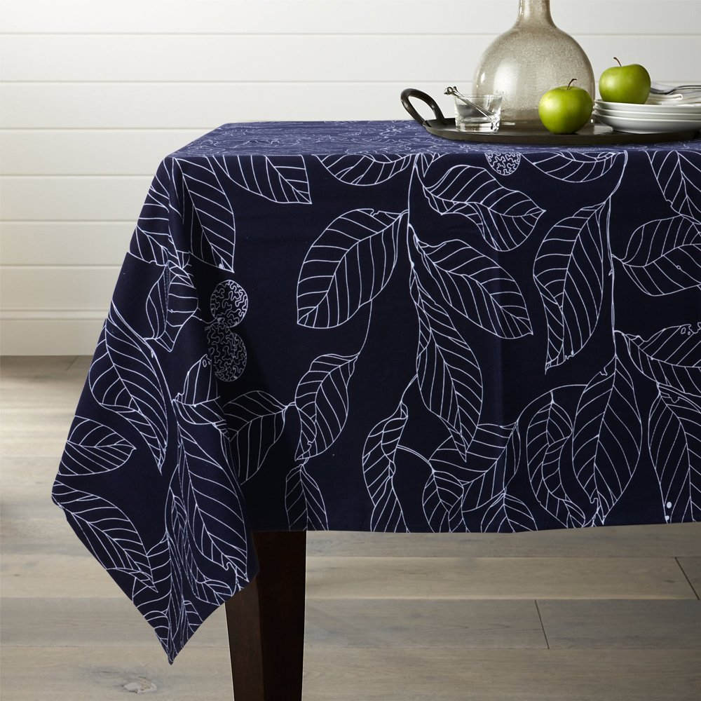 Lamberia 100% Cotton Canvas,Heavy Weight, Nature Leaves Printed Fabric  Tablecloth 60