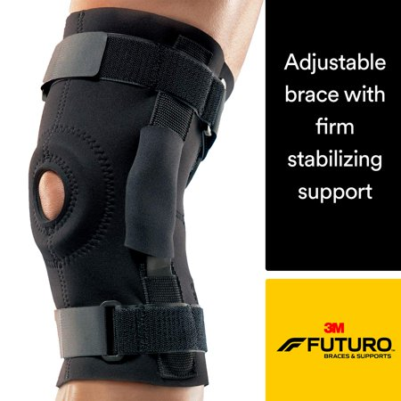 Hinged Knee Brace, Firm Stabilizing Support, Adjust to Fit, Black, Provides firm compression to weak, sore muscles and joints By