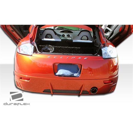 - Duraflex 102274 2006-2008 Mitsubishi Eclipse Racer Rear Lip Under Spoiler Air Dam