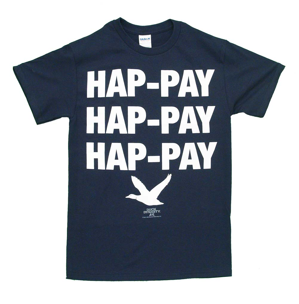Duck Dynasty Hap-pay TV Show Adult T-Shirt Tee