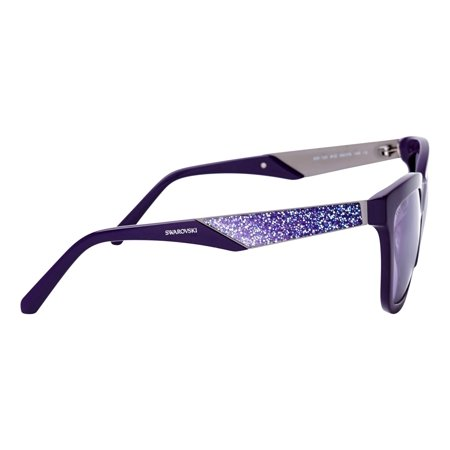SUNGLASSES - POLARIZED FASHION SUN GLASSES SWAROVSKI  SHINY VIOLET / GRADIENT OR MIRROR VIOLET  WOMAN SK0125-5481Z - image 1 of 3