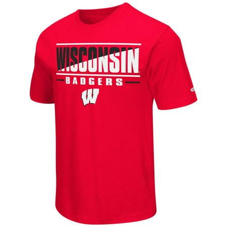 University of Wisconsin Badgers Men's T-Shirt Two Face Short Sleeve (University Wisconsin Badger Sports)