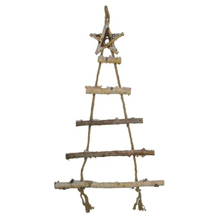 Northlight Natural 5 Tier Wall Hanging Twig Tree with Star Christmas Decoration ()