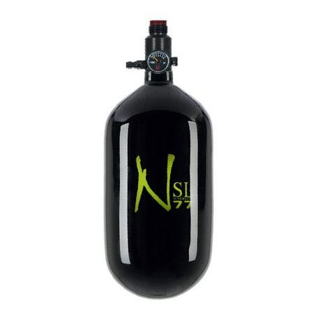 Ninja Carbon Fiber HPA Tank - SUPERLIGHT / SL - 77/4500 - Black w/ Lime Logo