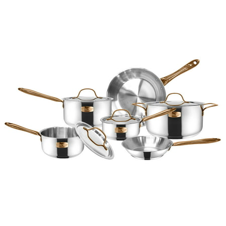 Cooks' Club Memphis Cookware Set, 10 Piece (Cooks Club Canister)