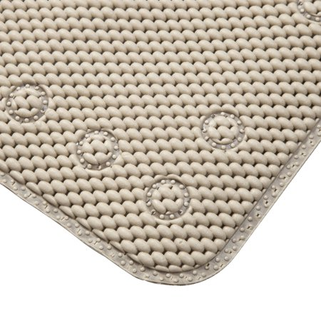 Kenney Non-Slip Taupe Cushioned Foam Bath, Shower, & Tub Mat with Suction Cups, 1 Each ()