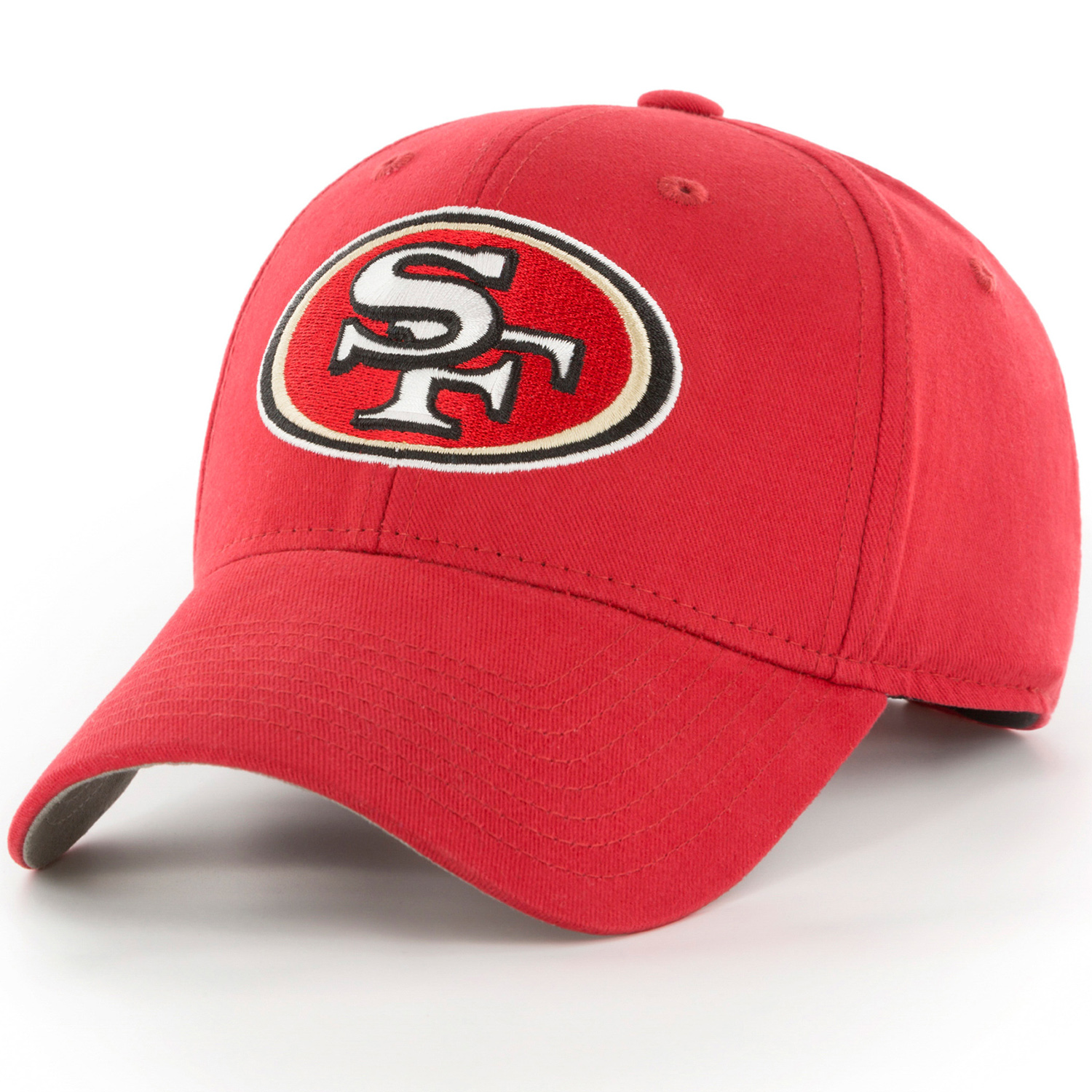 Men's Fan Favorite Scarlet San Francisco 49ers Mass Basic Adjustable Hat - OSFA