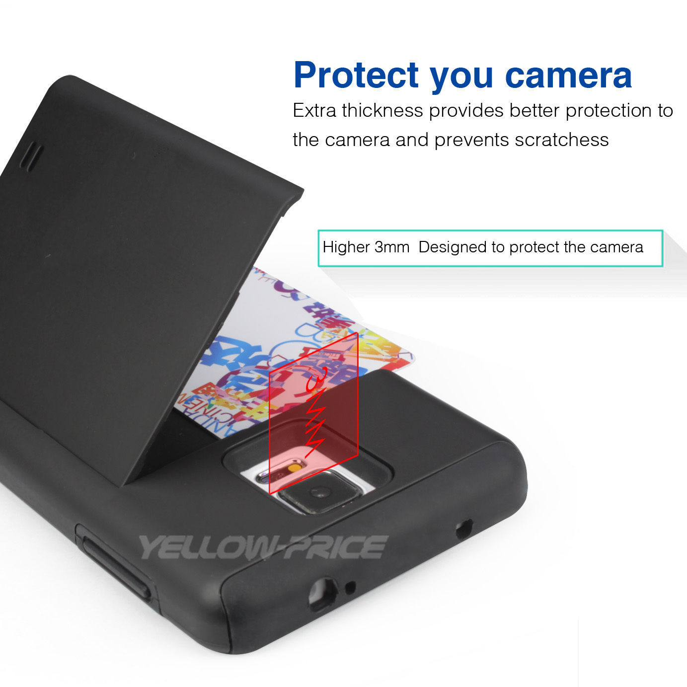 LIVEDITOR NEWCard Pocket Wallet Slim Case Kick-Stand Cover for Samsung Galaxy Note 4 N9100 - image 5 of 6