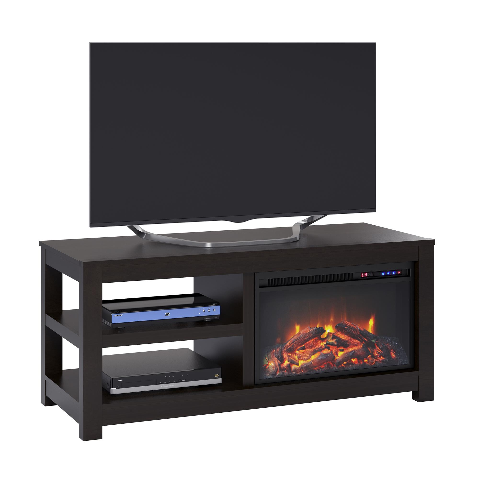 "Ameriwood Home Glyndon Electric Fireplace TV Stand for TVs up to 55"" Espresso"