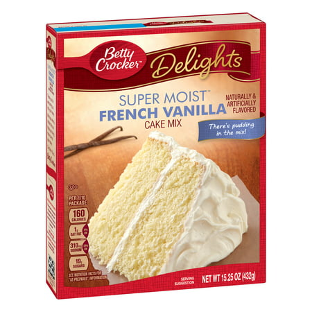 (12 Pack) Betty Crocker Super Moist French Vanilla Cake Mix, 15.25 oz