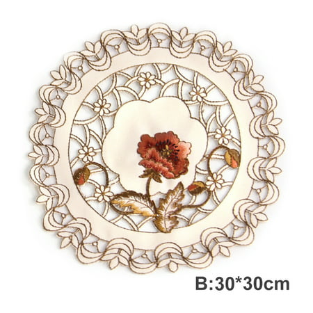 Retro European Pastoral Embroidered Floral Tablecloth Table Runner Home Kitchen Dining Room Decoration Decor ()