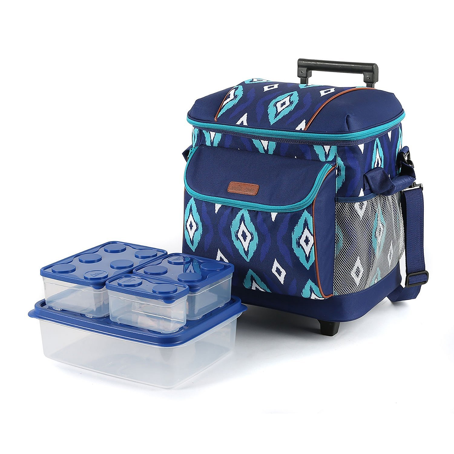 Insulated Picnic Tote Bag Satchel w/ 8-PC Container. Keep...