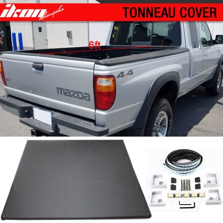 Bed Pickup Cover - Fits 82-11 Ford Ranger 94-01 Mazda Pickup 6ft 72in Bed Tri-Fold Tonneau Cover