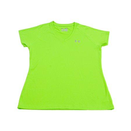 Under Armour Women's Hyper Green Tech V-Neck Jersey Short Sleeve Soccer - - Tech Goalkeeper Jersey