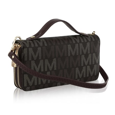 MKF Collection Jordyn M Signature Wallet with Removable Crossbody Strap by Mia K.