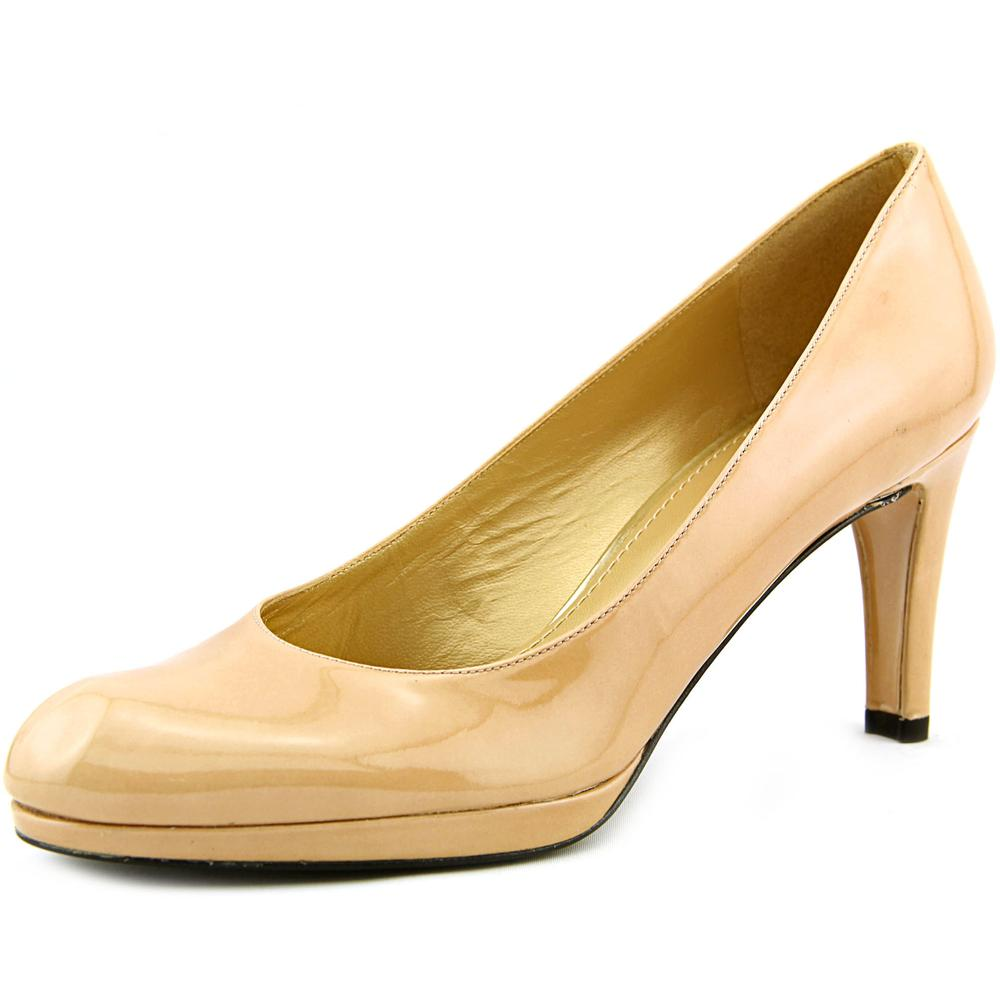 Stuart Weitzman Blog Women  Round Toe Patent Leather Tan ...