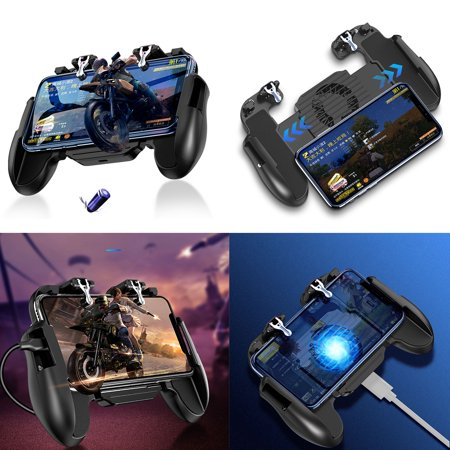 EEEkit Phone Controller with Cooling Fan, Mobile Controller Phone Game Mobile Trigger Joystick L1R1 Gamepad Grip Remote for 4-6.5 Inch Android iOS (2019 (Best Mobile Android Games 2019)