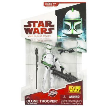 Star Wars 2009 Clone Wars Animated Action Figure Clone Trooper 41st Elite Corp (Green Deco) - image 1 de 1