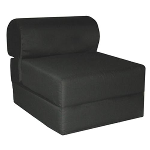 "Juvenile Poly Cotton Studio Chair Sleeper - Jr. Twin 24""-Color:Black"