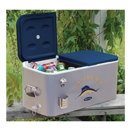 Tommy Bahama The Entertainer 77 Quart Steel Rolling Portable Patio Party (Steel Patio Cooler)
