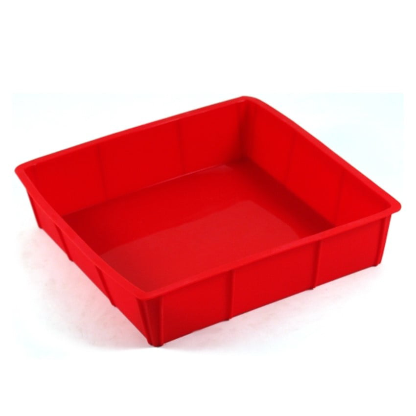 Harold Import Company Silicone 9 x 9 In. Square Cake Pan, Red by Harold Import Company