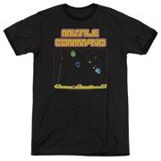 Atari Missle Screen Mens Adult Heather Ringer Shirt