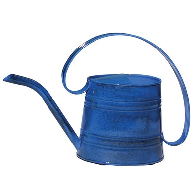 Robert Allen MPT01504 Watering Can, Metal, Navy Blue, .5-Gal. by ROBERT ALLEN LLC