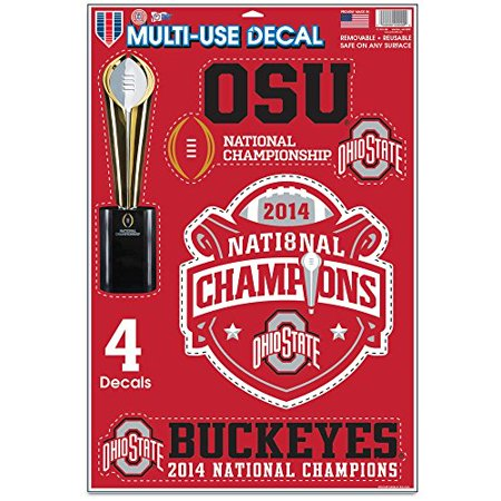 """National Football Champions Ohio State University Multi Use Decals 11""""x17"""""""