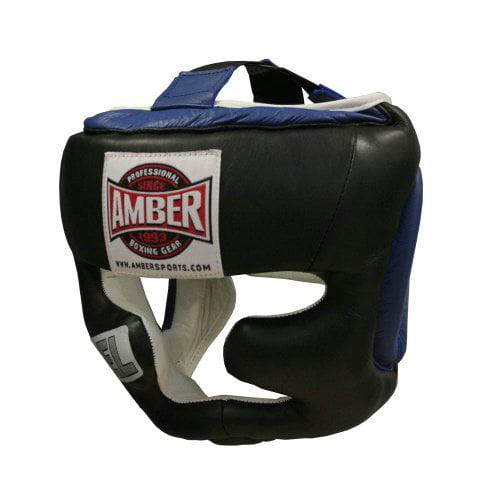 Amber Fight Gear Gel Full Face Training Headgear Large