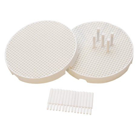 Set of 2 Mini Honeycomb Boards Large Hole with 20 Ceramic 1.6 MM Pins Jewelry Making Repair Soldering Work Surface Tool - SOL-444.00 ()