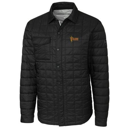 Arizona State Sun Devils Cutter & Buck Rainier Full-Snap Shirt Jacket - Black (Sun Devil Jacket)