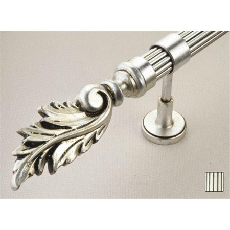 Palas 1070 Curtain Rod Set - 1.25 in. - Antique Pearl White - 141 in.