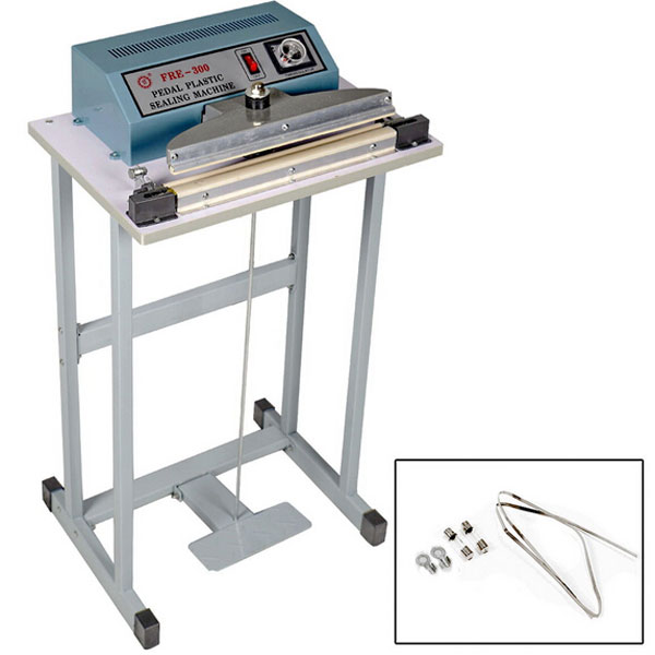 "Ktaxon Foot Pedal Impulse Sealer Heat Seal Closer Plastic Bag Sealing Machine, for Industrial and Commercial, 110V 12"""