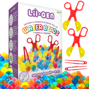 Li'l Gen Water Beads Toy Set - 20,000 Non-Toxic Beads with Scoops and Tweezers