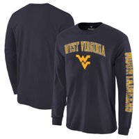 West Virginia Mountaineers Distressed Arch Over Logo Long Sleeve Hit T-Shirt - Navy