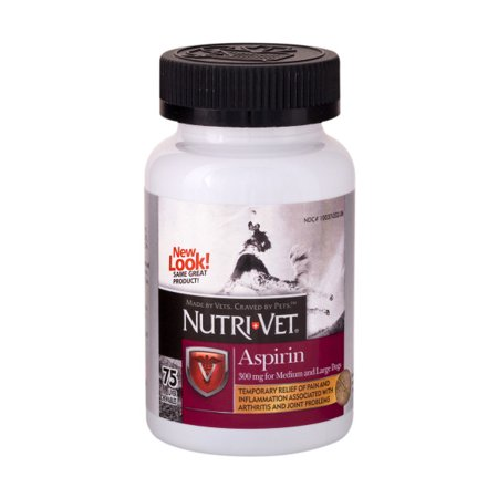 Nutri-Vet Aspirin for Large Dogs 300mg 75ct (Baby Aspirin Dosage For Dogs By Weight)