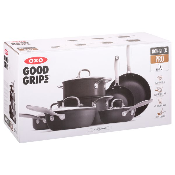 OXO Good Grips Non-Stick Pro 12 Piece Cookware Set