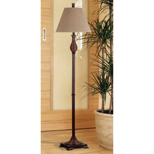 Kenroy Home Santiago Floor Lamp, Natural Reed