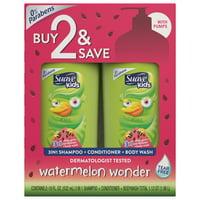 Suave Kids Wacky Melon 3in1 Shampoo Conditioner Body Wash 18 oz, 2 count