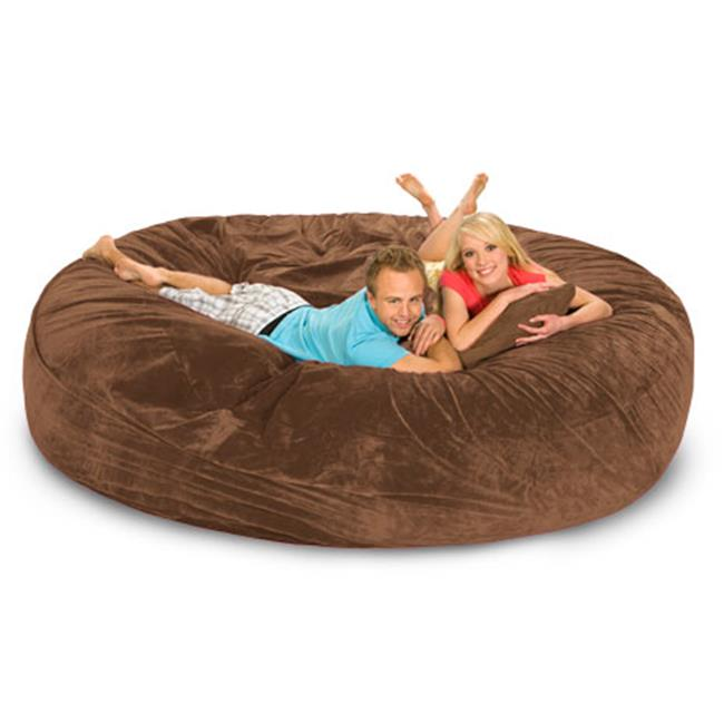 RelaxSacks 8DM-MS003 8 ft. Round Relax Sack - Microsuede Earth