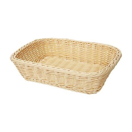 Designer Polyweave Baskets 11.5 inch x 8.5 inch Rectangular Basket 2.75 inch Deep Natural Polycarbonate/Case of 12