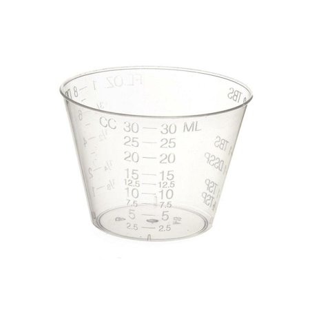 McKesson Medicine Cup 1 oz., Translucent, Plastic, Disposable, Box of 100 - Disposable Plastic Tea Cups