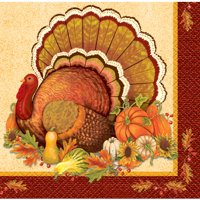 Give Thanks Thanksgiving Paper Beverage Napkins, 5in, 16ct