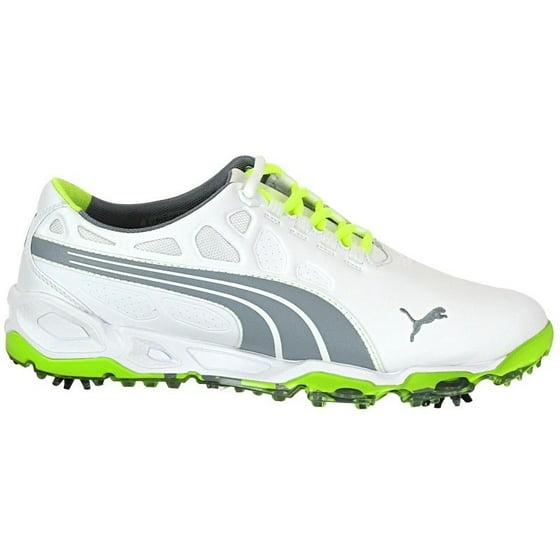 e4d602d198d Puma Men s Biofusion White  Grey  Fluorescent Yellow Golf Shoes -  Walmart.com