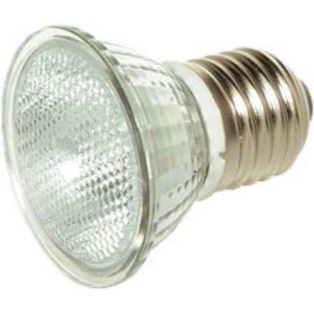 Satco Halogen Flood Lamp, Mr16, 35 Watts, 120 Volts, Medium Base, Clear, Short Neck, 36 Degree Beam Angle, 12 Per