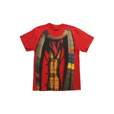 Doctor Who 4th Doctor Costume Mens Shirt (Cardinal)  Xl](Bts Halloween Lyrics)