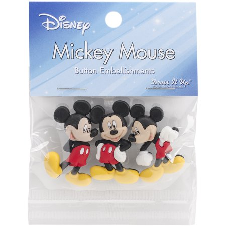 Disney Jolees Embellishments (Jesse James Dress It Up Disney Mickey Mouse Embellishments,)