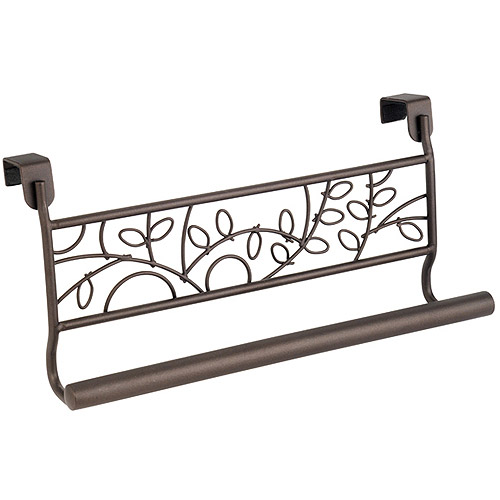 "InterDesign Twigz Over-the-Cabinet Kitchen Dish Towel Bar Holder, 9"", Bronze"