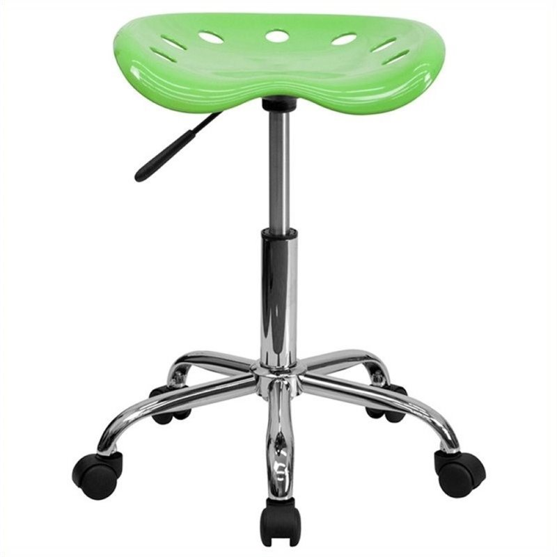 Scranton & Co Adjustable Bar Stool with Chrome Base in Apple Green